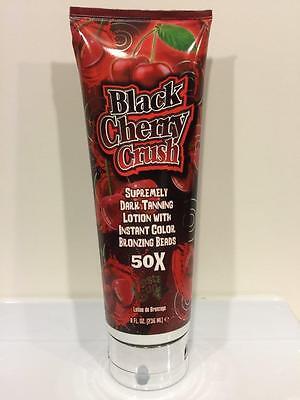 Fiesta Sun BLACK CHERRY CRUSH Dark 50X Bronzer Tan Indoor Tanning Bed Lotion2016