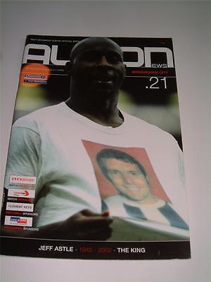 WEST BROMWICH ALBION FC LEGEND  JEFF ASTLE 2002 RARE TRIBUTE PROGRAMME