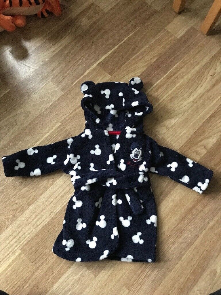 Mickey Mouse housecoat 3-6 months