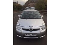 Silver Toyota Corolla Verso VVT-I T3 (2007) 7seater MPV 1.8l Petrol car with roof bars