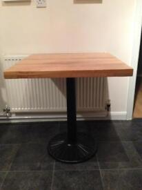 Oak effect bistro table