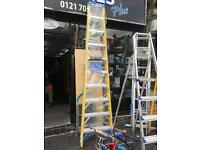 10 tread fibreglass ladder