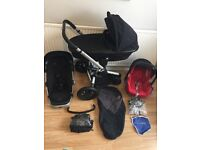 **QUINNY BUZZ Full Travel System**FOLDABLE CARRYCOT**MAXI COSI CAR SEAT**FOOTMUFF**EX COND