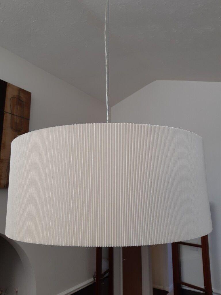 Large Cream Ceiling Light