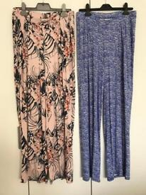 2x NEXT maternity (over the bump) summer trousers Size 8