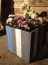 Planter made from reclaimed wood