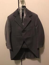 Grey Page boy suit.