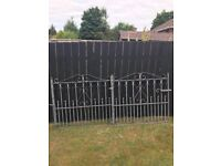 Pair of galvanised wrought iron decorative garden gates suit 8 ft driveway £150 for the pair