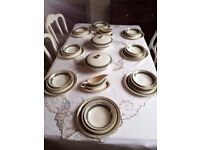 vintage dinner set made in England Crown Ducal 38 pieces