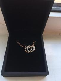 Rose Gold Plated Heart Necklace with SWAROVSKI® crystals