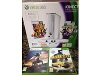 Xbox 360 glossy white 4gb Kinect Special Edition - boxed, as new