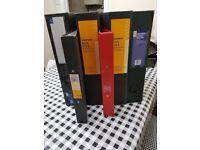 Box Folders and Ring Folders. Good Condition