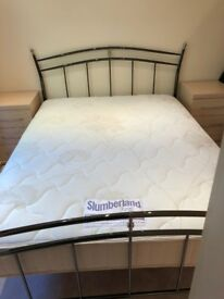King sized bed frame and mattress
