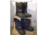 Trespass men's snowboots - UK size 10 as new. Sold with Trespass kids snowboots - UK size 6
