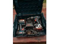 BOSCH 18V Combi & Hammer twin drills - 4.0A.h Batteries!!
