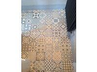Ceramic floor tiles (16.5x16.5)