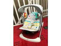 Fisher price colourful take-along swing & seat