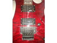 Guitar Vintage electric, Metal AXXE-Wraith, blood red, 24 frets etc.
