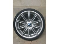 "BMW MV4 Front Alloy Wheel 19"" 5x120 8J Genuine #1"