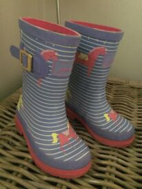 Joules Girls Wellies size 8