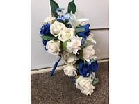 Royal blue bridal Wedding bouquet