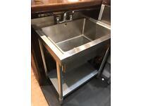 Vogue stainless steel midi sink