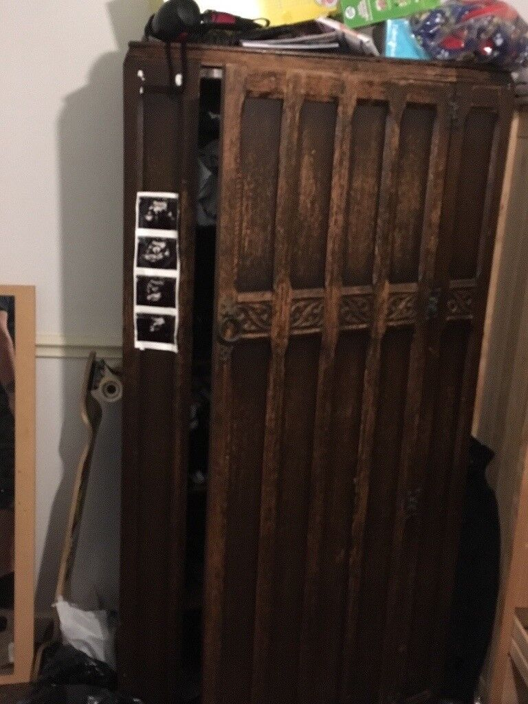 Wooden wardrobe for sale.