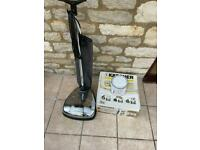 Karcher floor polisher with pads and tin Jenkins floor wax