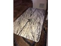 Wooden marble design coffee table