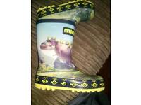 Minions wellies. Size 10 infant