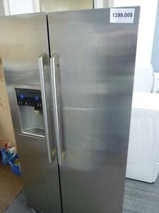 "67- ELECTROLUX FRIGO 36"" STAINLESS CUISINIERE Counter Depth FRIDGE AND STOVE"