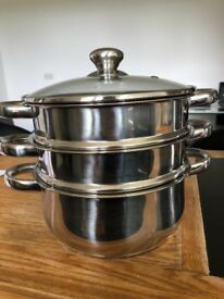 Stainless steal steamer and large pot