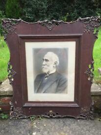 Old portrait in an ornate frame