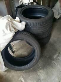 4x pirelli tyres 245/45/r18