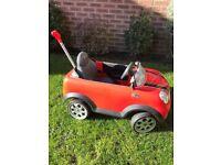 Red Mini Cooper Toy Car