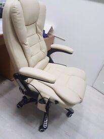 Massaging Desk Chair w/Heated Cushions