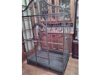 Large parrot cage for sale suitable for macaw or amazon feeding pots included £155ono 01253623577