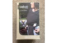 Caboo plum coloured baby carrier cotton blend