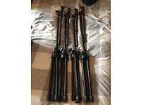 Four Studiospares Boom Microphone Stands