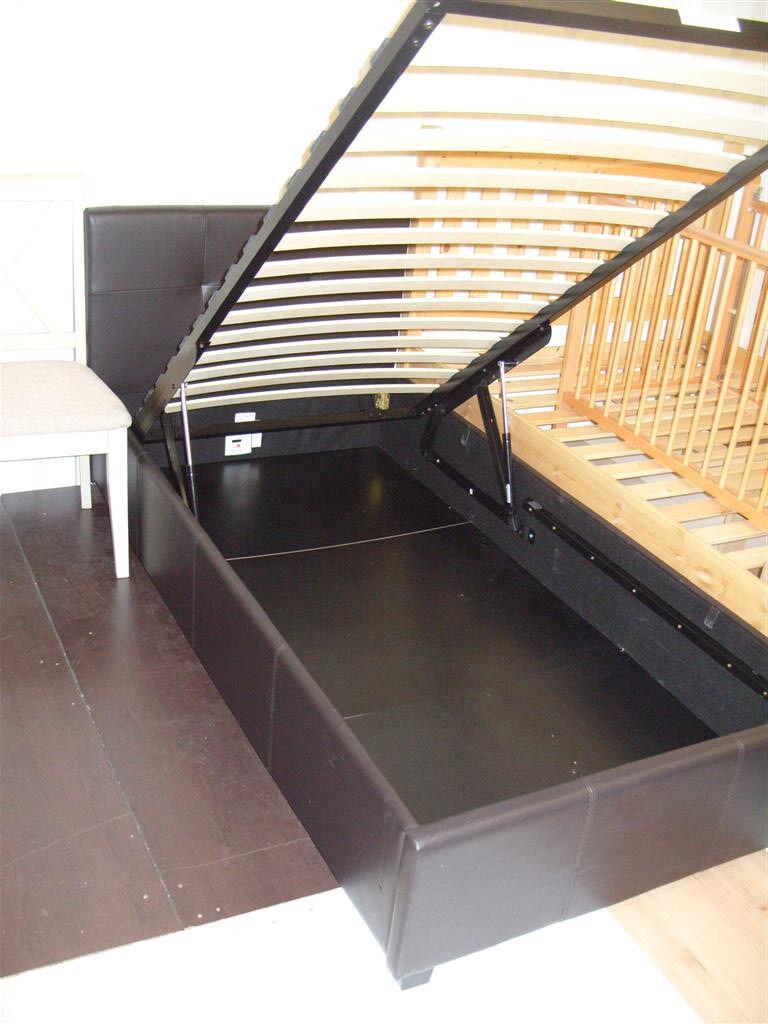 hygena clonard single ottoman bed frame chocolate. Black Bedroom Furniture Sets. Home Design Ideas
