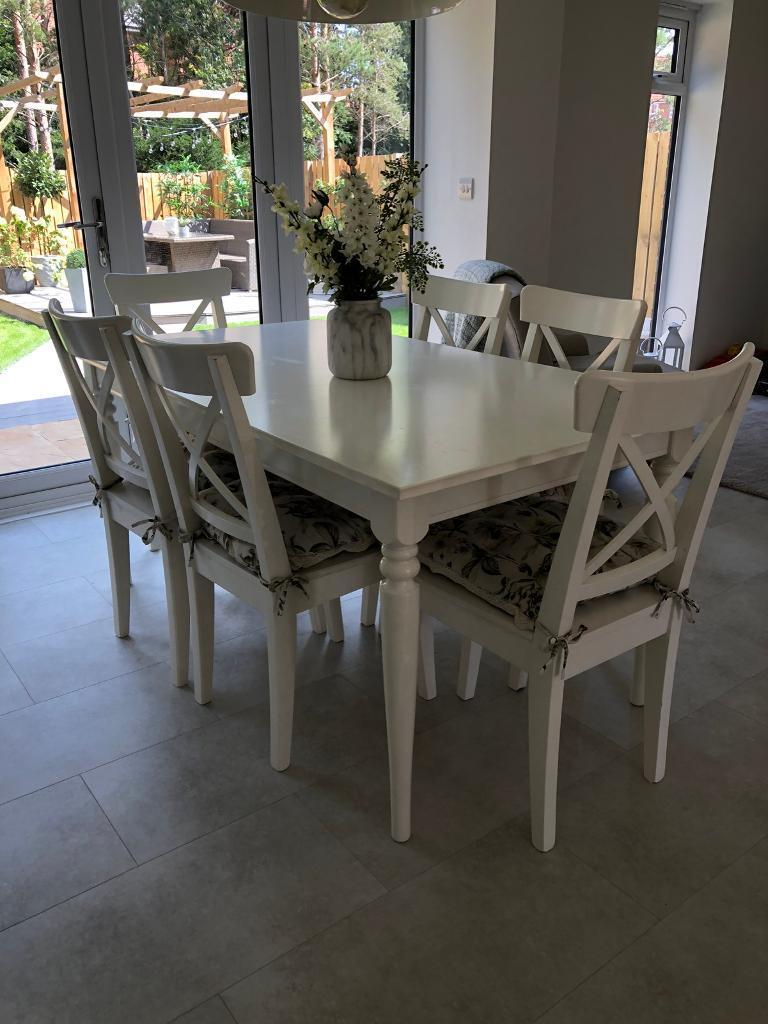 Ikea Ingatorp Dining Table And Four Chairs In Washington