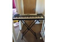 Electric piano/organ with stand