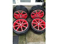 Fox Racing Red alloys