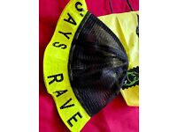 Cyber Dog Rave Bucket Hat In Neon Yellow - Not a cap or beanie