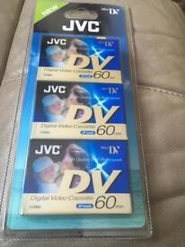 Jvc digital video cassette 3 pack