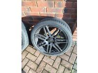18 inch black alloy wheel