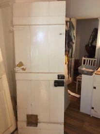 Original period wooden backdoor