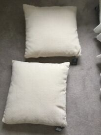 2 Brand new cream chenille cushions Linea House of Fraser