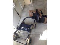 Pushchair pram / can deliver/foldable/big metal basket/spacious