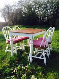 Farmhouse dining table and 4 chairs set